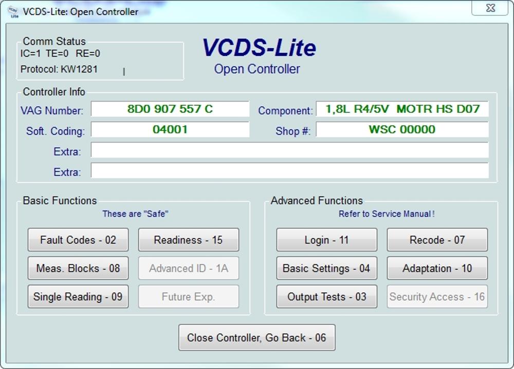 OBD2 Interfaces: OBD2 VAG KKL 409 1 USB interface
